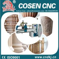 cosen cnc wood lathe with step motor for wooden products from China manufaturer