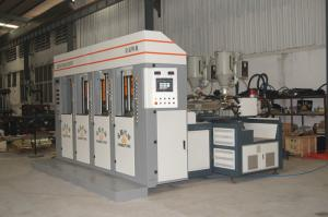 China Static slide type PVC/Tpr Outsole Injection Moulding Machine 4 stations 2 injectors on sale