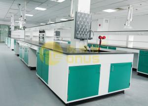 China Epoxy Resin Basin Station chemical resistant countertops / lab island bench on sale