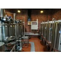 SUS 304 Conical Craft Home Beer Brewing Systems Automatic For Brewing Plant