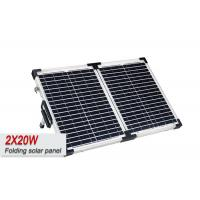 2 X 20W Portable Solar Panels For RV Batteries , Portable Power Pack With Solar Panel