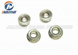 China Stainless Steel 304  Plain Color Serrated Hex Flange Nuts for Pipe Connections on sale