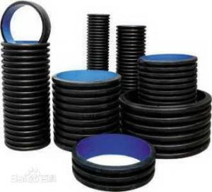 China Black HDPE Underground Electrical Conduit Plastic Pipe Low Temperature Resistance on sale
