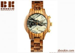 China 2017 new slim stone quartz wooden bands watch wood on sale
