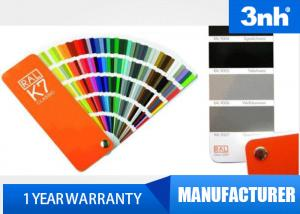 China Professional 210 Colors Ral Color Cards , Paint Shade Card 5 * 15cm Chart Size on sale