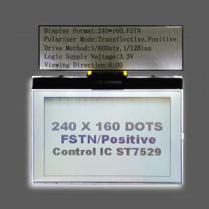China White Backlight Fstn 240 * 160 Dots Graphic LCD Module For Matrix Character LCD Display on sale