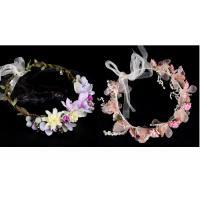 Women Hair Accessories Fabric Wedding Wreath Crown Headband Artificial Flower Garlands For Girls