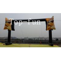 PVC tarpaulin black  inflatable led light advertising arch,water proof and fire retardant
