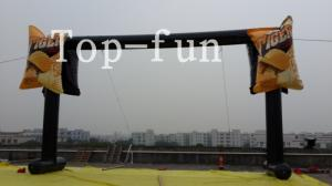 China PVC tarpaulin black  inflatable led light advertising arch,water proof and fire retardant on sale
