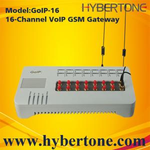 China 16 Ports GoIP GSM Gateway GoIP-16 Quad band IMEI chang SMS for VoIP terminal on sale