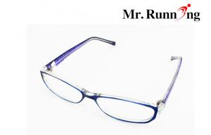 China Stylish Reading Glasses , Purple Frame And Plastic Lens Eyeglasses on sale