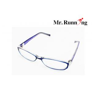 China Stylish Reading Glasses , Purple Frame And Plastic Lens Eyeglasses on sale