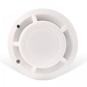 China White Photoelectric Fire Alarms Smoke Detectors , Battery Operated Smoke Detectors on sale