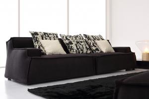 Quality Relaxing Fabric and Leather Living Room Couches ,  Italian With High Density Sponge for sale