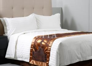 China Professional Design 3cm Stripe Hotel Bed Sheets , Comfortable Bed Sheet Set for Household on sale