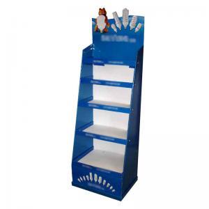 China Supermarket Corrugated Display Boxes Carton Display Stands Matte Film Lamination supplier