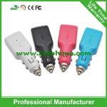 Chargeur promotionnel de voiture d'USB de nouveau port simple de bille d'acier mini avec différentes couleurs