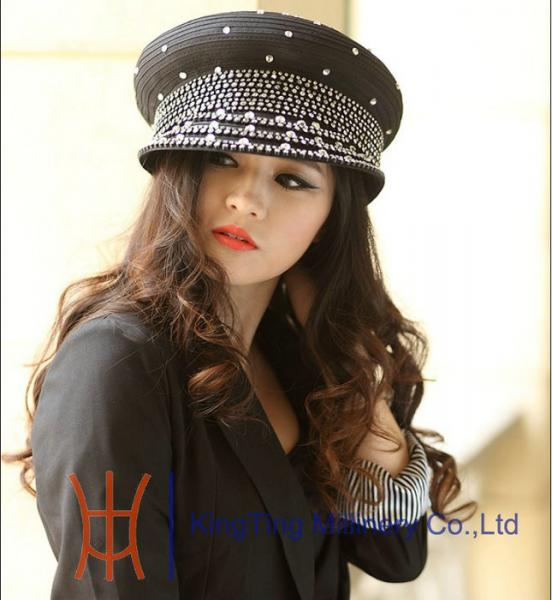 6c46ade189324 Eco - friendly Winter Womens Church Hats with Diamond Casing ...