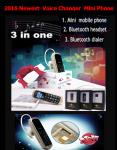 China Mini phone J8 GTSTAR BM50 Voice Changer Small Mobile Phone smart bluetooth headset Mini phone +very small mobile