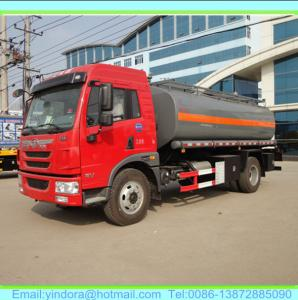China FAW 4X2 10000 LITRES chemical tanker truck on sale