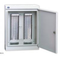Wall Mount Fiber Box For LSA Module , 100 - 1600 Pair Key Lock Cable Distribution Cabinet