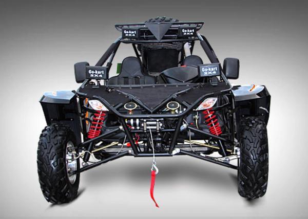 1100cc Black Go Kart Buggy Rear Wheel Drive With Manual Transmission