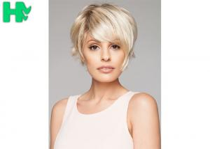 China New Arrival Sale Popular Light Blonde Synthetic Natural Look Short Wig on sale