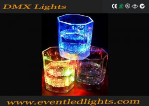 China Custom Light Up Plastic Cups Yellow / Blue , 100ml Led Drinking Glasses on sale