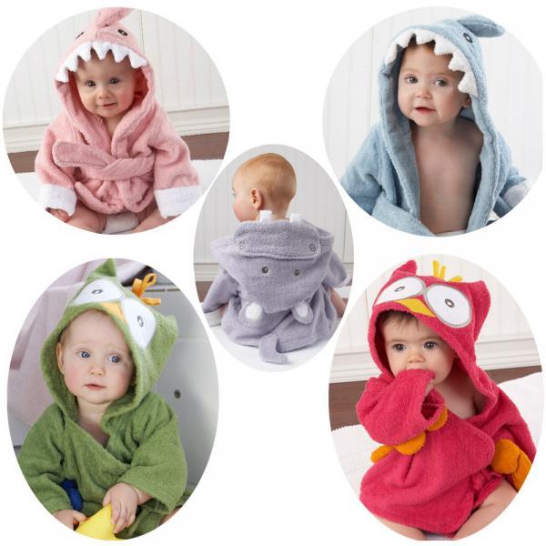 3d2b18c6ff New Hooded Baby Bathrobe Cartoon Baby Towel Character kids bath Towel Beach  Images