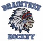 China Custom Embroidery Digitizing Braintree hockey Team logo for T-Shirts and Blanket wholesale