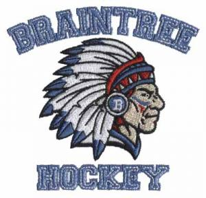 Quality Custom Embroidery Digitizing Braintree hockey Team logo for T-Shirts and Blanket for sale