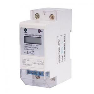 China 60Hz Small Size Single Phase Energy Meter SMT Technology High Accuracy on sale