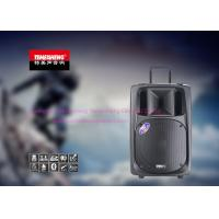 China Battery Powered Bluetooth Portable Trolley Speaker With Fm Radio / Wireless Mic on sale