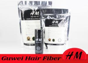 China Bulk Black Hair Fibre Refill Bags Mens Hair Loss Products OEM / ODM on sale