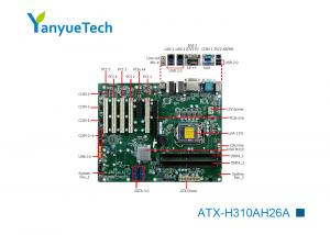 China ATX-H310AH26A Industrial ATX Motherboard / Intel Motherboard Intel@ PCH H310 Chip 2 LAN 6 COM 10 USB 7 Slot 5 PCI on sale
