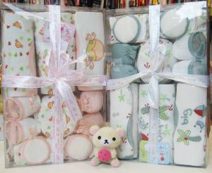 China Beautiful Personalized New Born Baby Birth Gift Sets With Baby Suits on sale