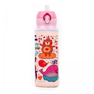 China Reusable Portable L6CM Glass Water Bottle Sleeve on sale