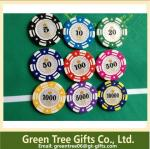 Special Design different Colors 13.5g clay cosmetics Casino poker chip