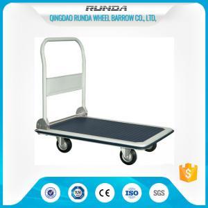China Foldable Platform Hand Truck PH300 300kgs Load Capacity Blue Color 4 Wheels on sale