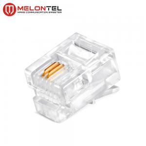China MT-5050 RJ11 Modular Plug Gold Plated 4P2C RJ11 Cat3 Male Plug For Telephone Outlet on sale