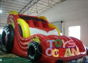 China Waterproof Portable Red Inflatable Water Slide For Kids / Adults CE Approval on sale