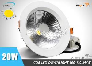 China High Brightness 6 Inch Recessed Shower LED Downlight Fixtures 20 Watt on sale