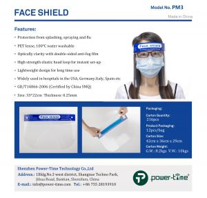 China Anti Splash Elastic String Reusable Safety Face Shield Visor on sale