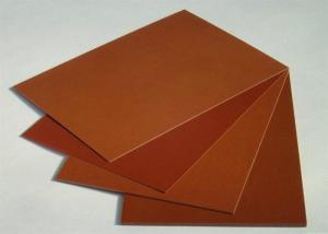 China Brown Smooth Surface Colored Plastic Sheet / Phenolic Cotton Sheet  Heat - Resistant on sale