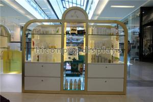 China Shopping Mall / Store Makeup Display Stands Large Cosmetic Display Shelving Unit on sale