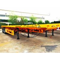 Two Axle Container Semi Trailer 12 Pcs Tire T700 Strong Steel Material