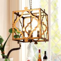 China Rectangular Iron chandelier for indoor home lighting (WH-CI-74) on sale