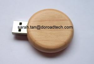 China Promotional Gift Flash Drives Wooden Round USB on sale
