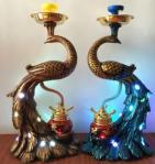 Woyu 2018 Big Size Peacock Luxury Customers Design Resin Material Hookah Shisha for Clubs