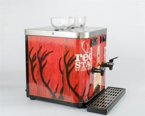 Quality Restaurant Double Shot Chiller Double Tap Dispensing Design With 2 Bottle for sale